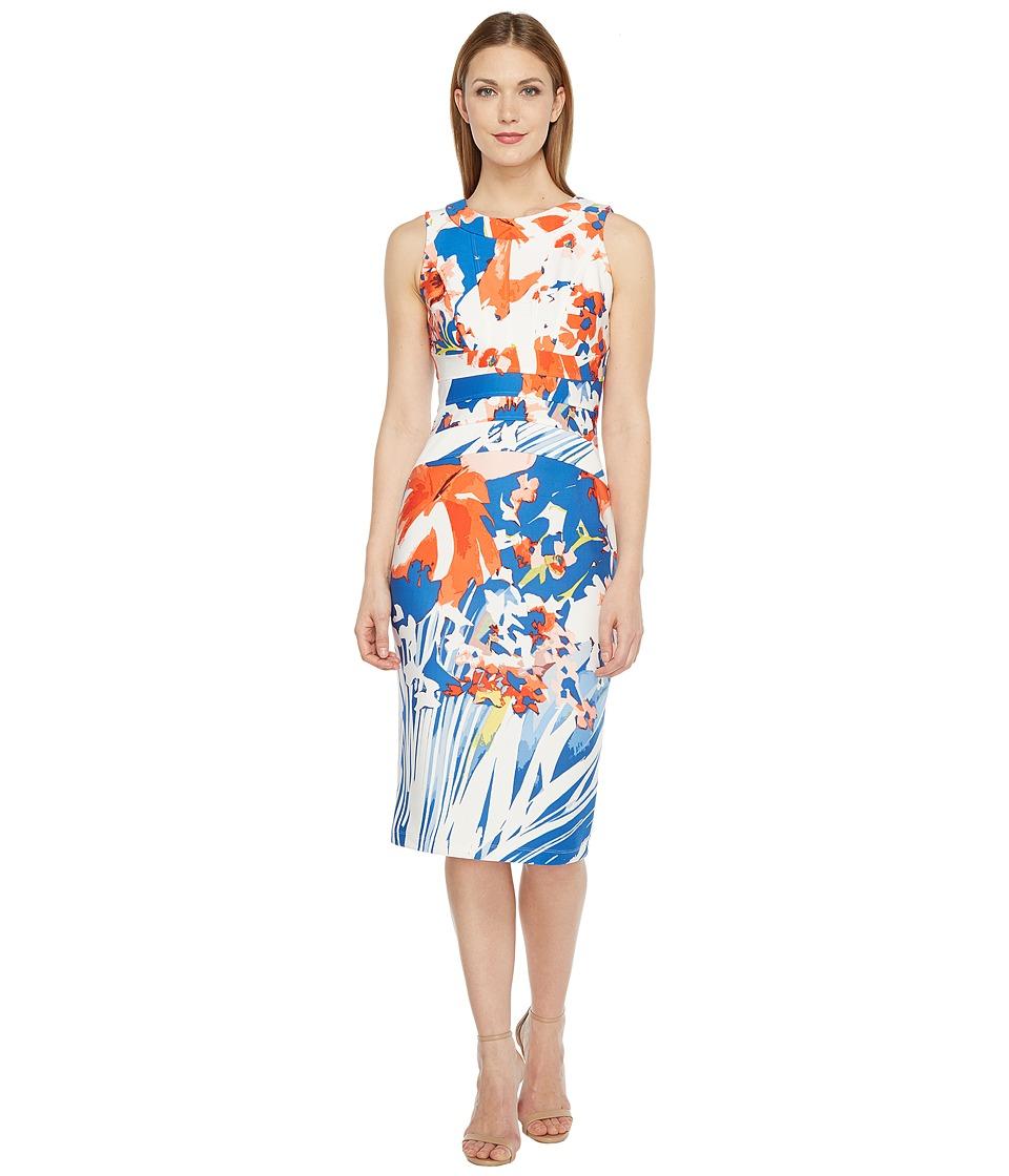 Christin Michaels Annette Sleeveless Bodycon Dress (Blue/Multi) Women