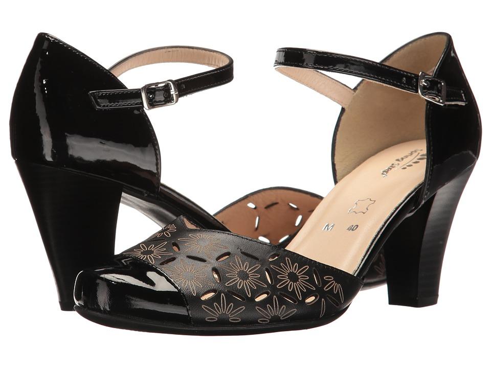 1930s Style Shoes Spring Step - Janisa Black Womens Shoes $89.99 AT vintagedancer.com