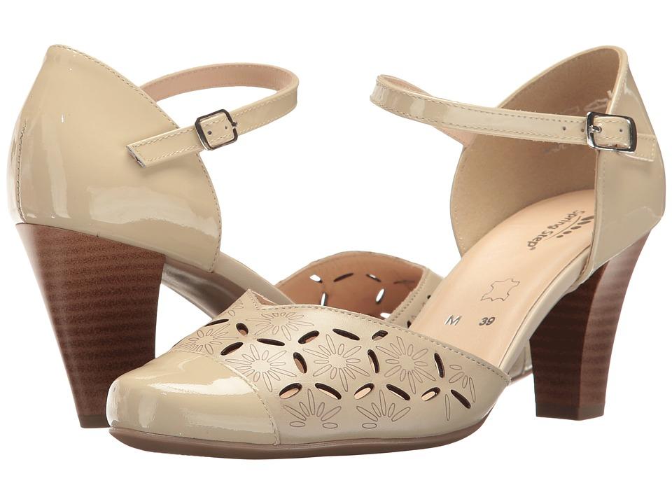 1930s Style Shoes Spring Step - Janisa Beige Womens Shoes $89.99 AT vintagedancer.com