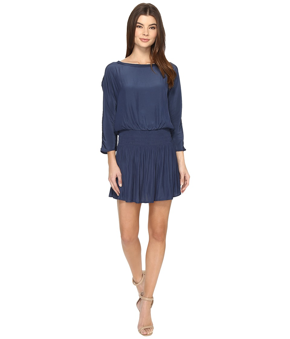 Splendid Smocked Dress (Navy) Women