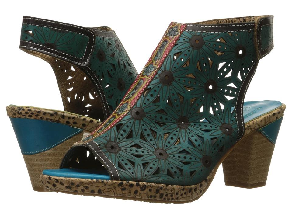 L'Artiste by Spring Step - Marjan (Turquoise) High Heels