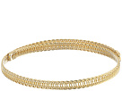 Kenneth Jay Lane Polished Gold Braided Wrap Around Dog Collar Necklace