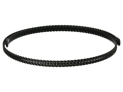 Kenneth Jay Lane Black Braided Wrap Around Dog Collar Necklace - Black