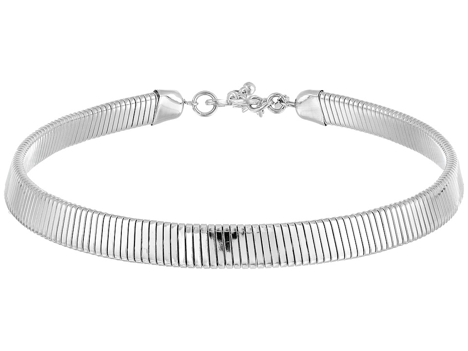 Kenneth Jay Lane 12 Inch with 3 Inch Extender Silver Snak...