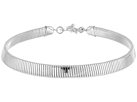 Kenneth Jay Lane 12 Inch with 3 Inch Extender Silver Snake Chain Dog Collar Necklace
