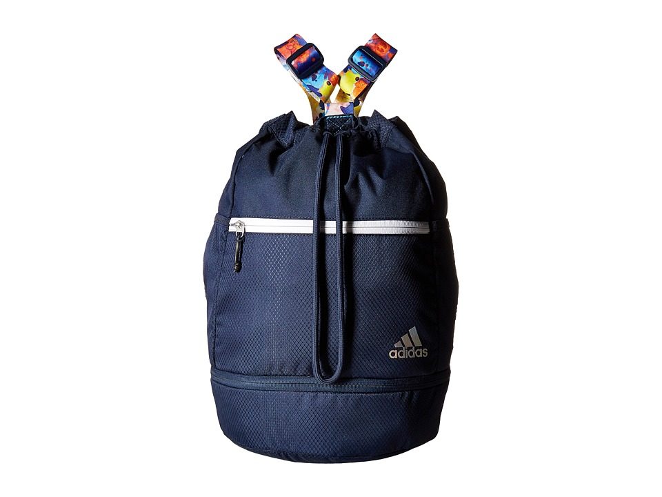 adidas Squad Bucket Backpack (Collegiate Navy/Jodo/White) Backpack Bags