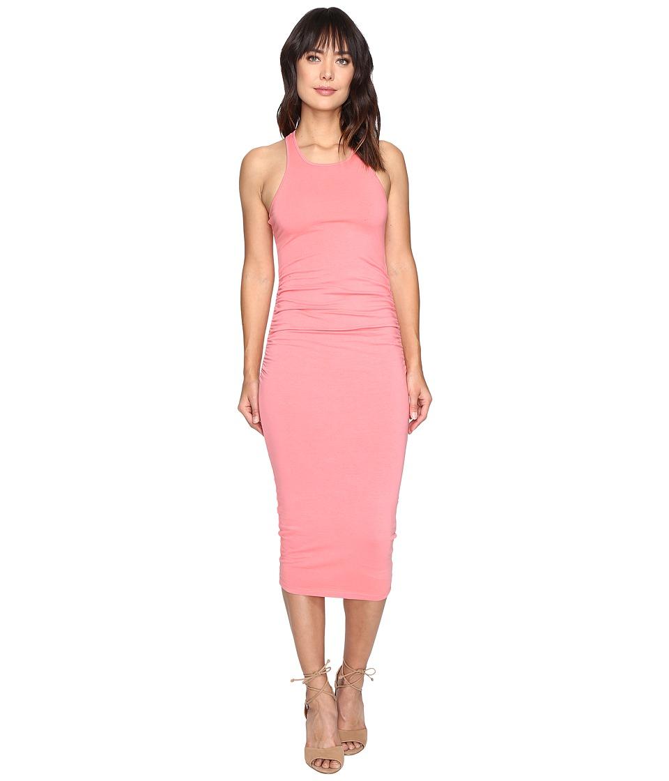 Michael Stars Racerback Dress w/ Shirring (Coral Sun) Women