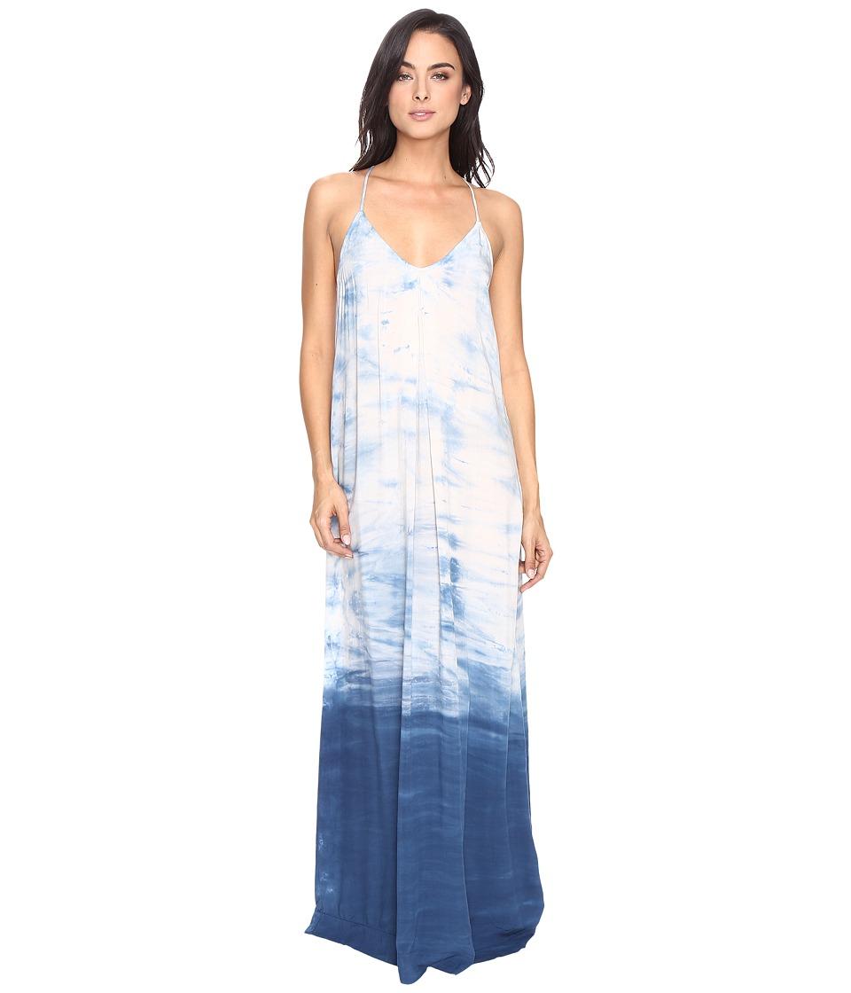 Michael Stars Haze Wash Modern Rayon Maxi Slip Dress (Cosmic Blue) Women