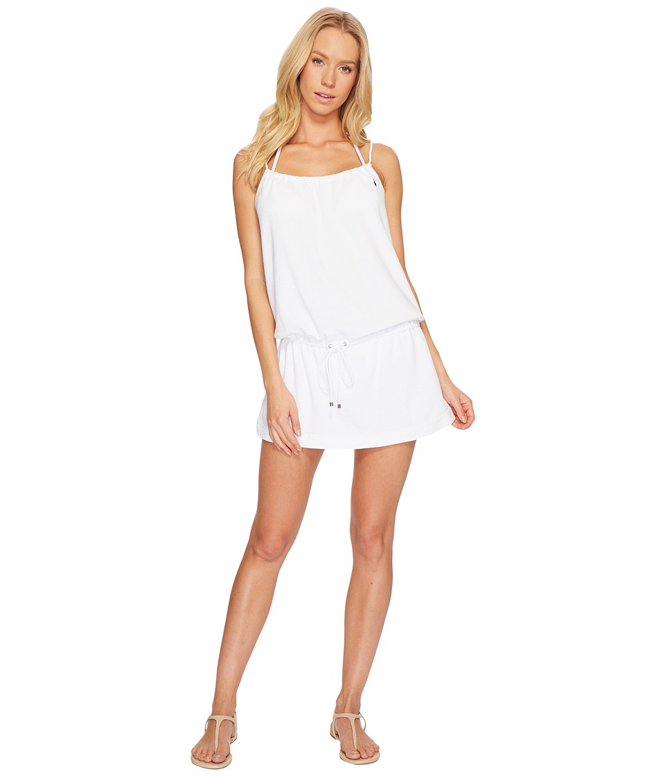 Polo Ralph Lauren Iconic Terry Rope Dress Cover-Up (White) Women