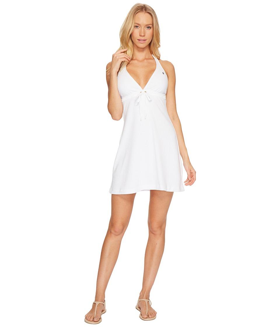 Polo Ralph Lauren Iconic Terry Grommet Halter Dress Cover-Up (White) Women