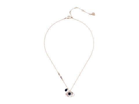 Swarovski Duo Pendant Evil Eye Necklace - Blue