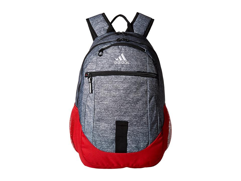adidas Foundation III Backpack (Jersey Onix/Scarlet) Backpack Bags