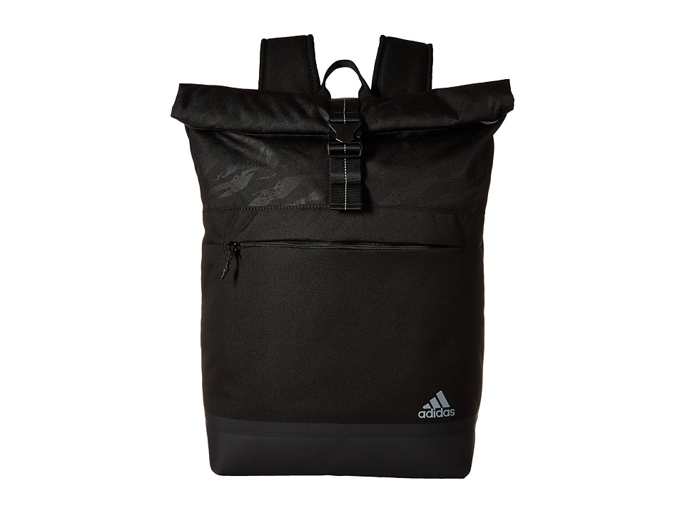 adidas - Sport ID Backpack (Black/Tiger Style Camo Emboss) Backpack Bags