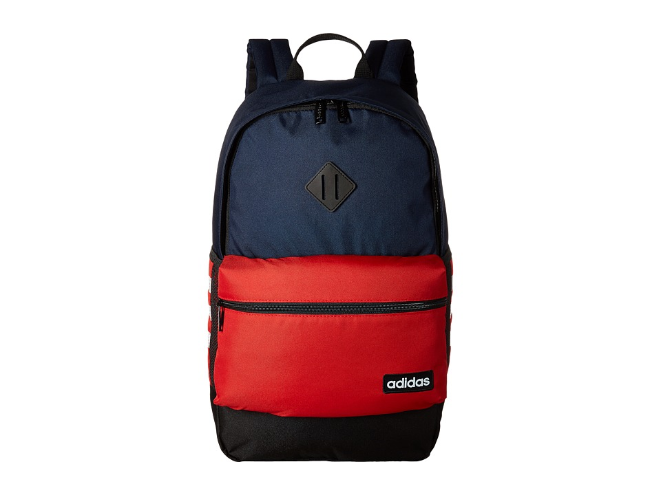 Adidas Classic 3S Backpack (Collegiate Navy/Scarlet/Neo W...