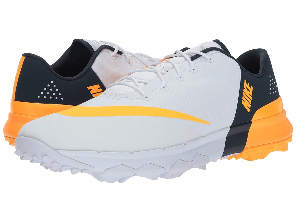 Nike Golf - Flex (White/Laser Orange/Armory Navy) Mens Golf Shoes