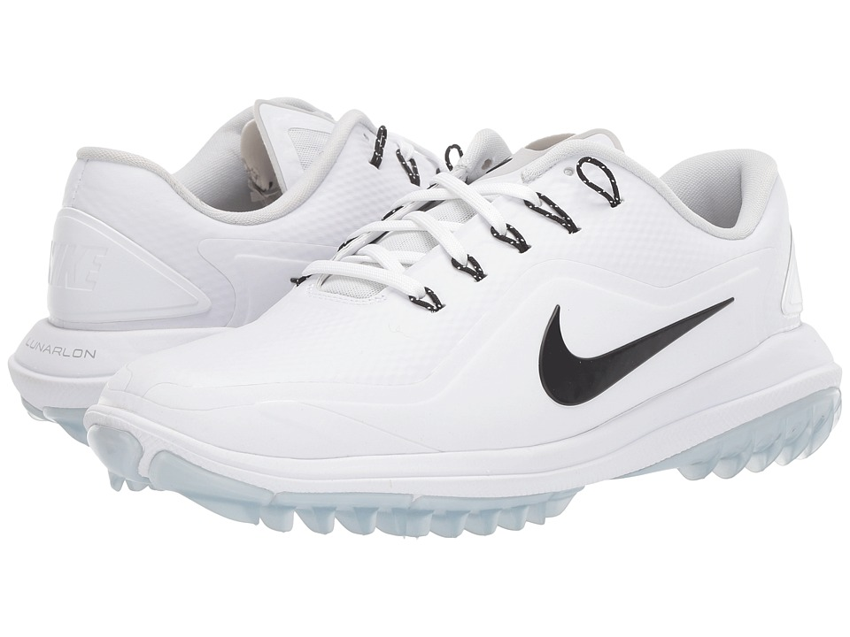 Nike Golf Lunar Control Vapor 2 (White/Black/Pure Platinum/Volt) Women's Golf Shoes