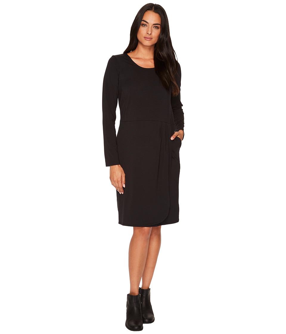 ExOfficio Wanderlux Tulipa Dress (Black) Women