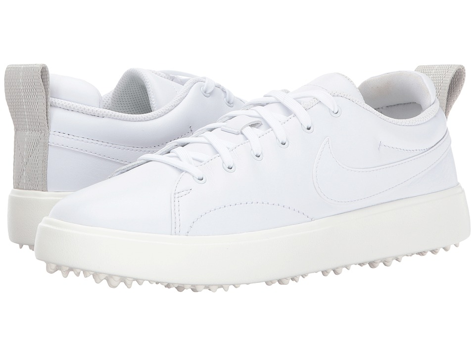 Nike Golf Course Classic (White/White/Sail/Black) Women's Golf Shoes