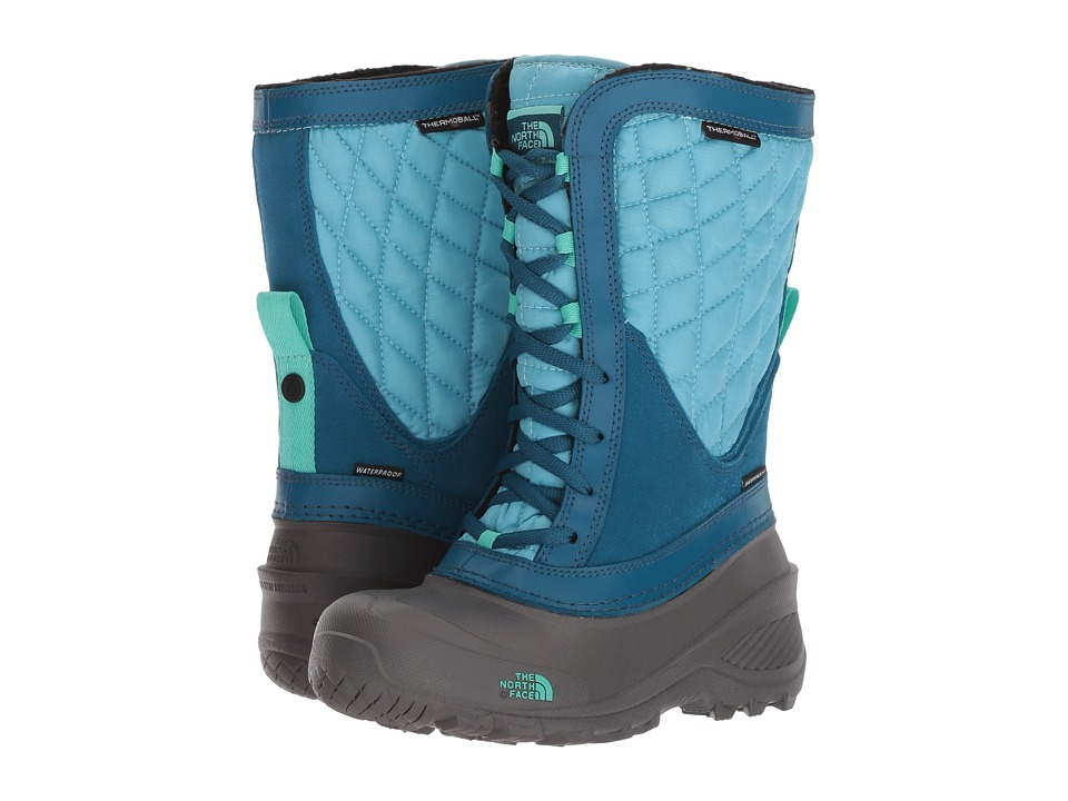 The North Face Kids ThermoBall Shellista (Toddler/Little Kid/Big Kid) (Blizzard Blue/Bermuda Green) Girls Shoes