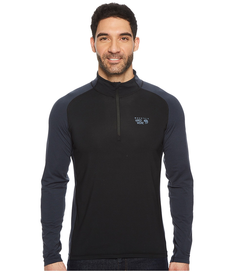 Mountain Hardwear Butterman 1/2 Zip Top (Black/Zinc) Men