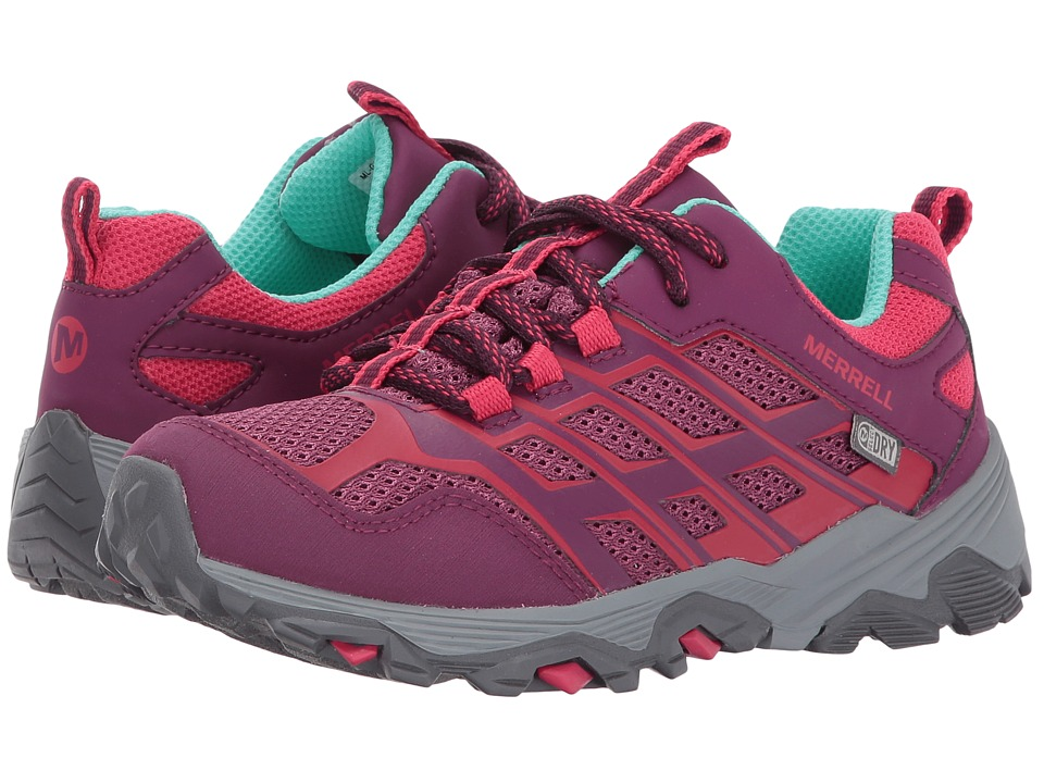 Merrell Kids Moab FST Low Waterproof (Little Kid) (Berry) Girls Shoes