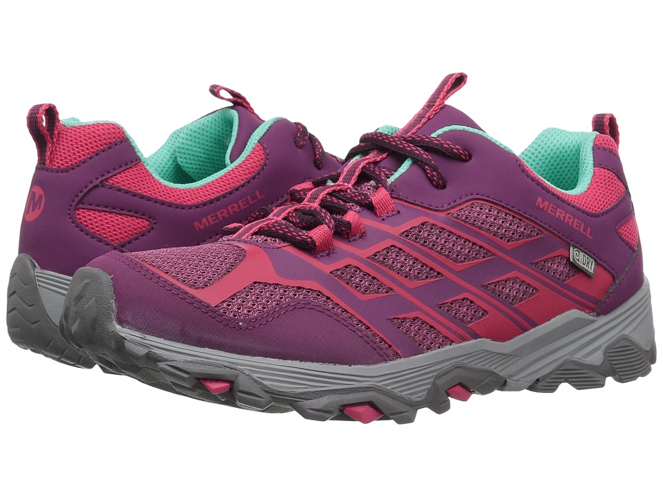 Merrell Kids Moab FST Low Waterproof (Big Kid) (Berry) Girls Shoes