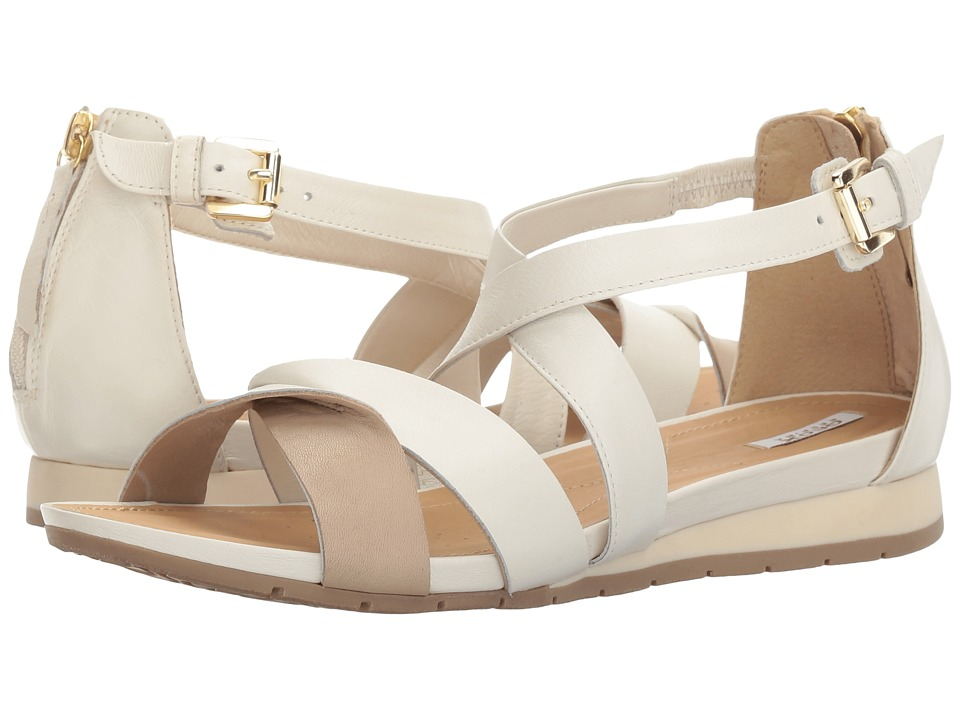 Geox W FORMOSA 11 (Off-White/Light Taupe) Women