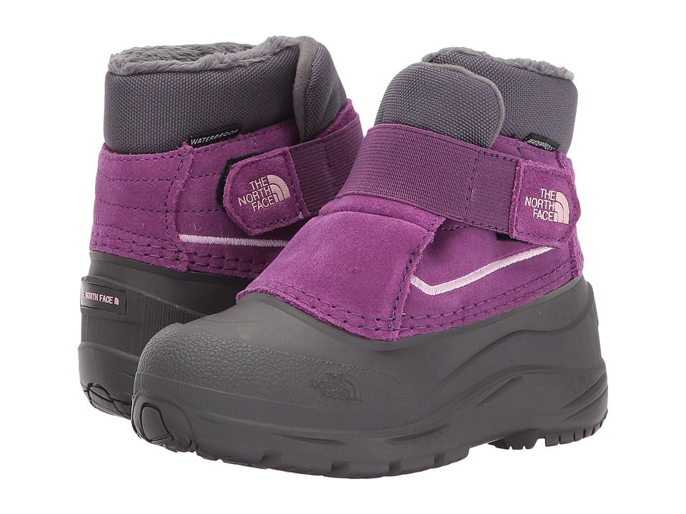 The North Face Kids - Alpenglow (Toddler) (Dark Gull Grey/Wood Violet) Girls Shoes