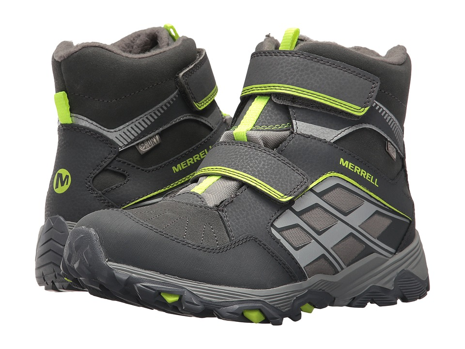 Merrell Kids Moab FST Polar Mid A/C Waterproof (Big Kid) (Grey) Boys Shoes