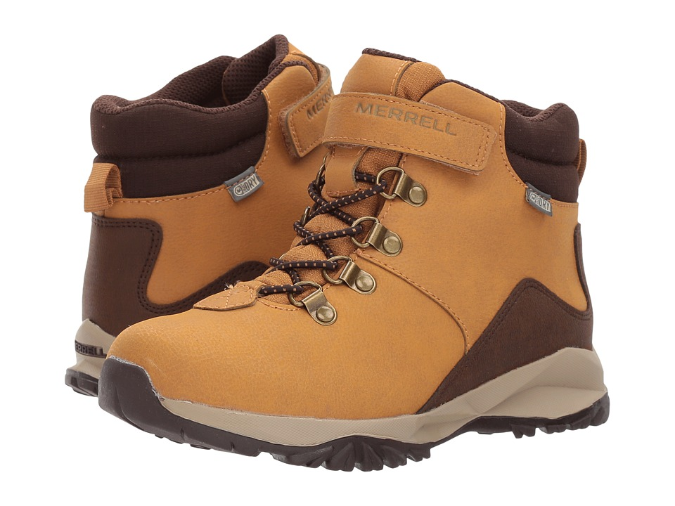 Merrell Kids Alpine Casual Boot Waterproof (Toddler/Little Kid) (Wheat) Boys Shoes