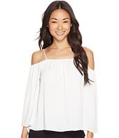 Vince Camuto Specialty Size - Petite Long Sleeve Cold-Shoulder Rumple Blouse