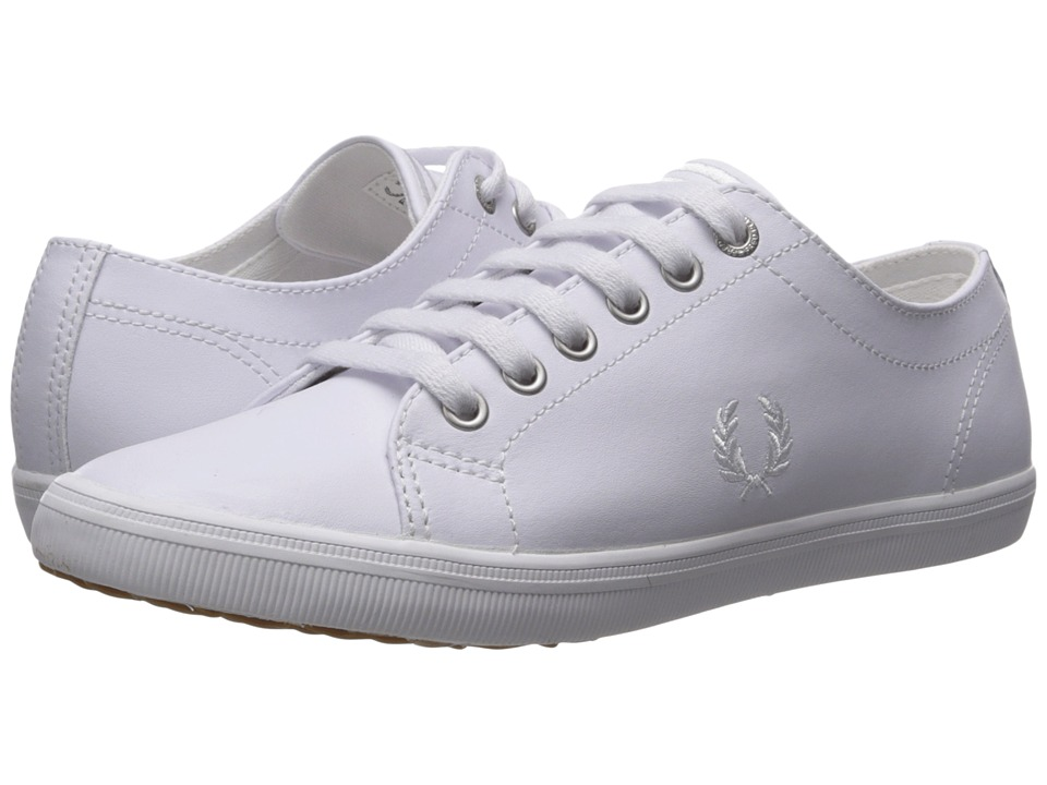 Fred Perry Kingston Leather (White/White) Men