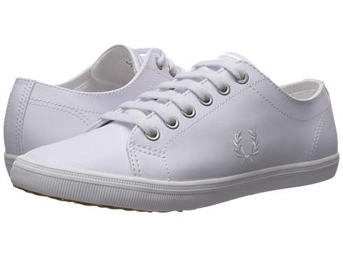 Fred Perry Kingston Leather - White/White