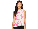 Vince Camuto Specialty Size - Petite Sleeveless Modern Cut Out Floral Blouse