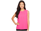 Vince Camuto Specialty Size - Petite Sleeveless Front Pleat Blouse