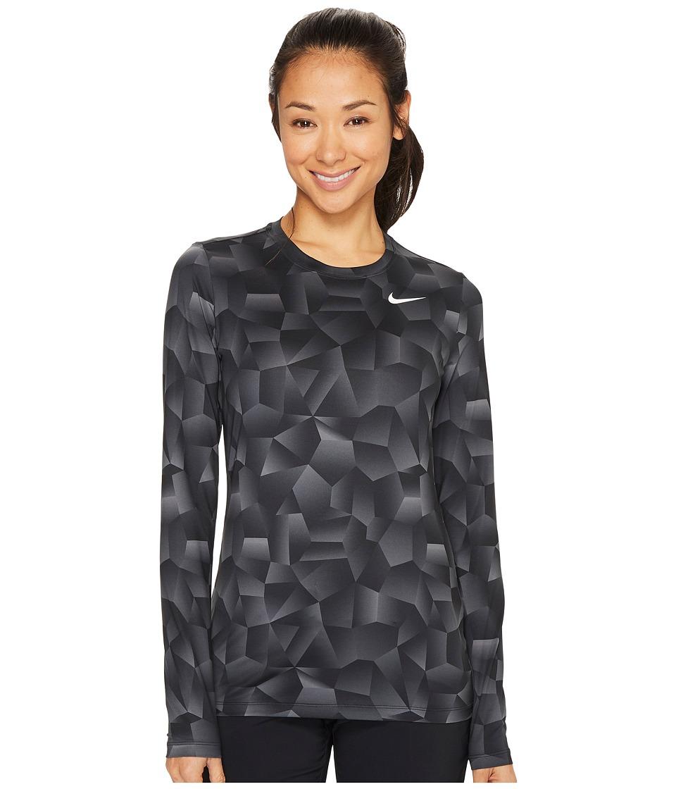 Nike Golf Crew Baselayer Holiday Print (Dark Grey/Black/Flat Silver) Women