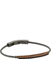 Fossil - Vintage Casual Leather and Steel Bracelet