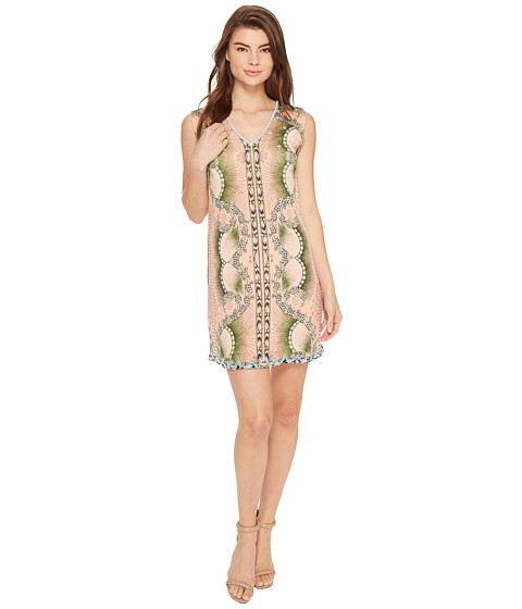 Nicole Miller La Plage By Nicole Miller Tropical Peacock Beaded Cover-Up Dress - Multi