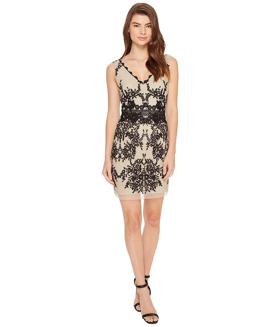 Nicole Miller Hialeah Lace Party Dress (Black/Cream) Women