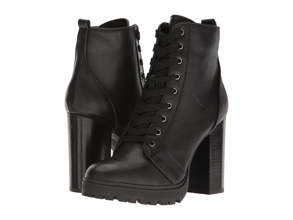 Steve Madden-Laurie  (Black Leather) Womens Boots