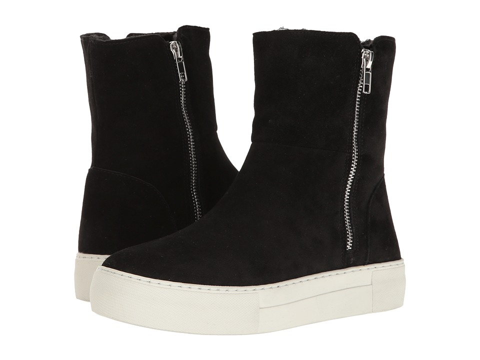 Steve Madden-Boost  (Black Suede) Womens Shoes