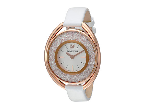 Swarovski Crystalline Oval Watch - White
