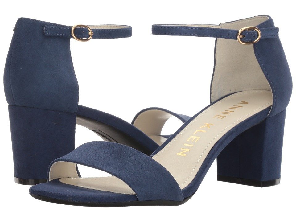 Anne Klein Camila (Dark Blue Suede) Women