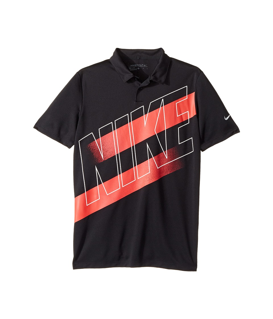 Nike Kids - Victory Graphic Polo (Little Kids/Big Kids) (Black/Wolf Grey) Boys Short Sleeve Pullover