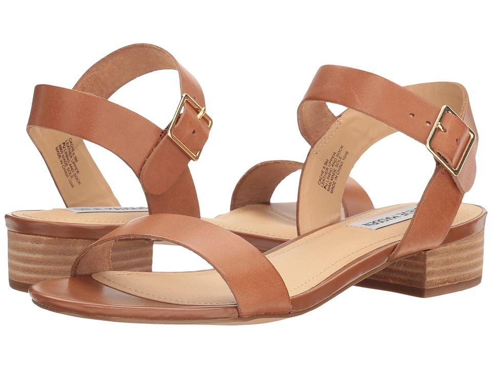 Steve Madden Cache Sandal (Cognac Leather) Women's Shoes