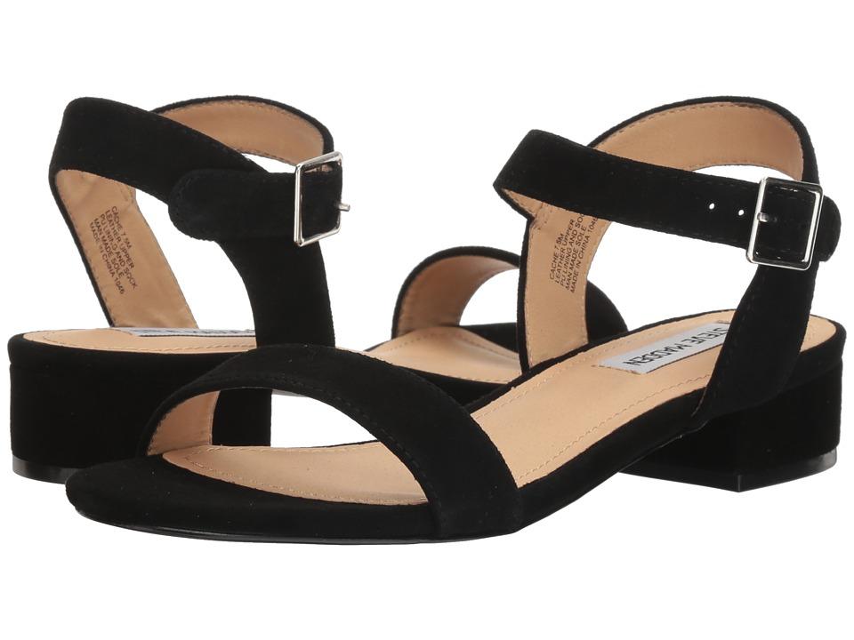 Steve Madden Cache Sandal (Black Suede) Women's Shoes