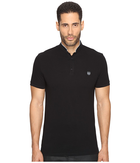 The Kooples Officer Collar Polo with Contrasting Trim