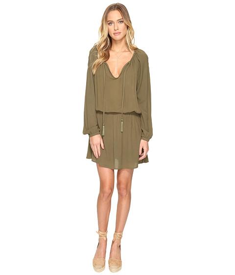 Clayton Crepe Ezma Dress - Olive