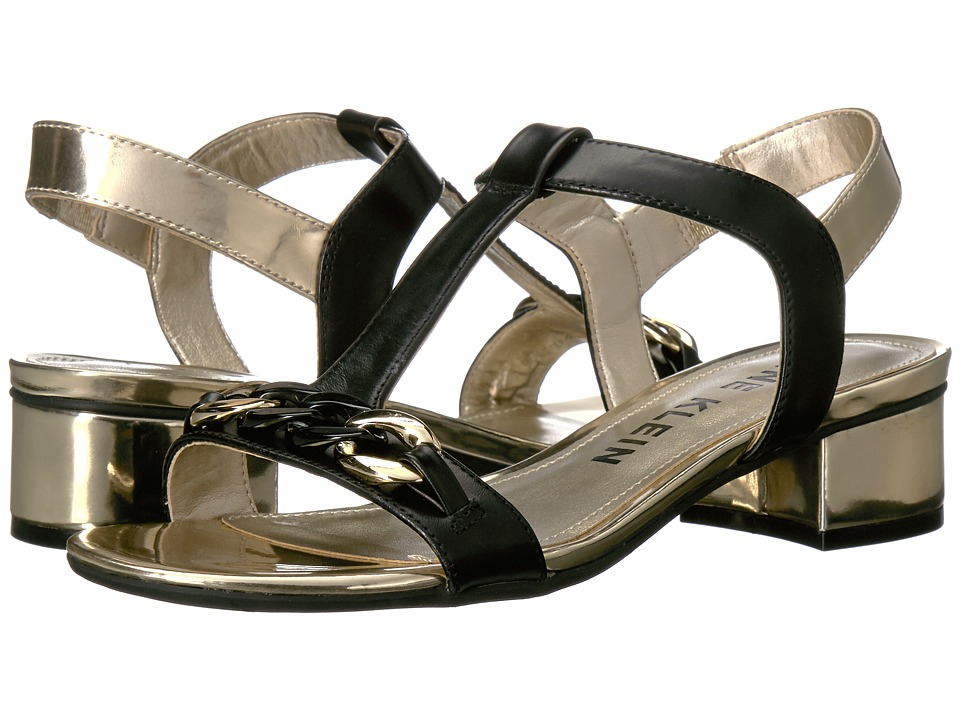 Anne Klein - Entity (Black/Gold Leather) Womens Shoes
