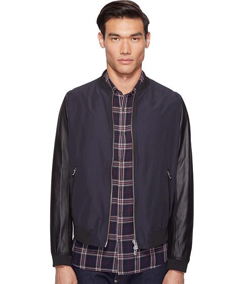 The Kooples Leather Sleeves Jacket